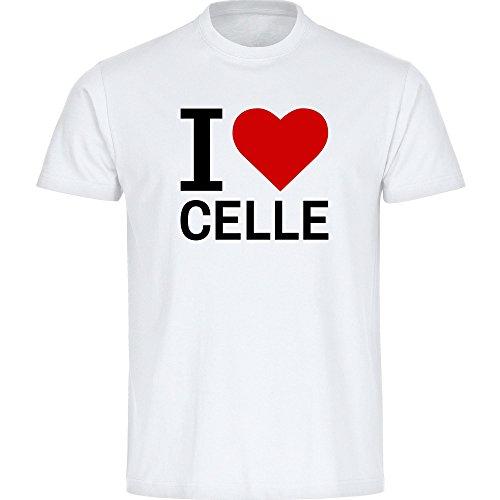 T-Shirt Classic I Love Celle weiß Herren Gr. S bis 5XL, Größe:XXXXXL
