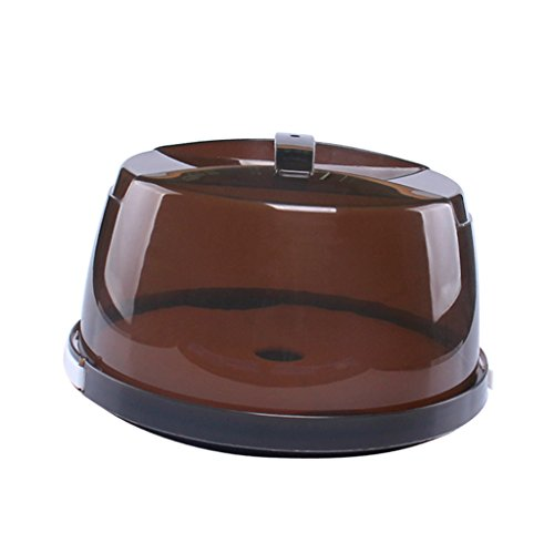 Gazechimp Tragbare Kuchenbox mit Haube, Ø 28 cm, Höhe 17.5 cm, Braun, Kunststoff