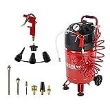 AREBOS Druckluftkompressor Luftkompressor | inkl. 13-tlg. Zubehör | Wartungsarm | Abschaltautomatik | Extra langer Luftschlauch | ölfrei | Kapazität: 30 l