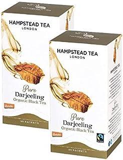 Hampstead Tea London Pure Black Bio Tee Darjeeling - 2 x 20 Beutel 80 g