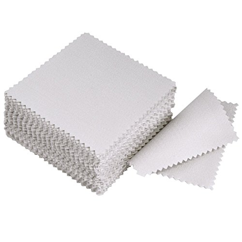 Toallitas limpiadoras de joyería DealMux para plata esterlina, oro, platino, gris, 50 piezas