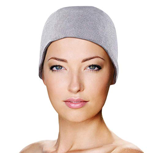 Migraine Gel Full Head Coverage Ice Hat by FOMI Care   Cranial Cold Cap   Top and Side Skull Cooling Headache and Chemo Recovery Pack   Wearable Therapy Wrap for Sinus, Stress, Pressure Pain Relief