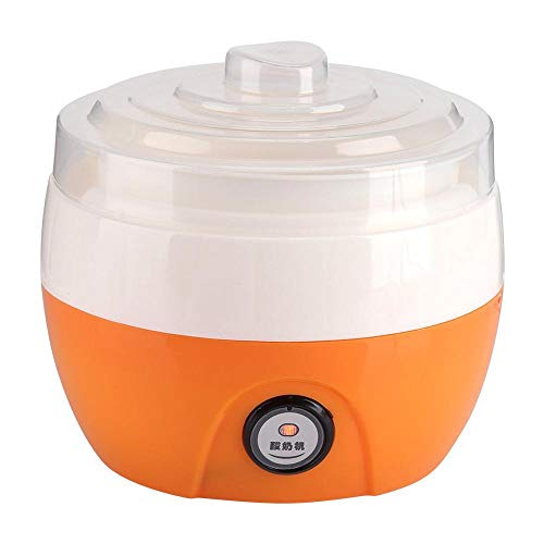 wwwl Yogurtera, yogurtera, 15 W, 220 V, 50 Hz, máquina eléctrica automática, de plástico, forro, yogur, herramientas para bricolaje, aparatos de cocina, naranja