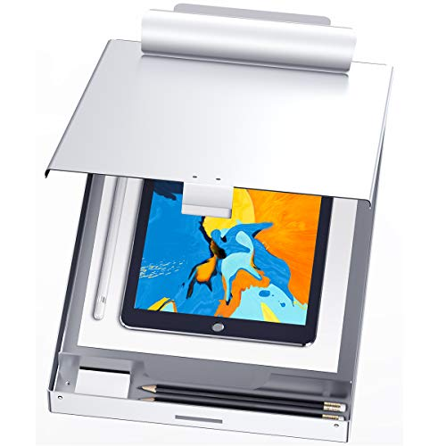 Metal Clipboard with Storage, Letter Size Form Holder Portfolio Aluminum Metal Binder with High Capacity Clip Posse Box - Surface for Legal Size Paper, for Office Business Professionals Stationer
