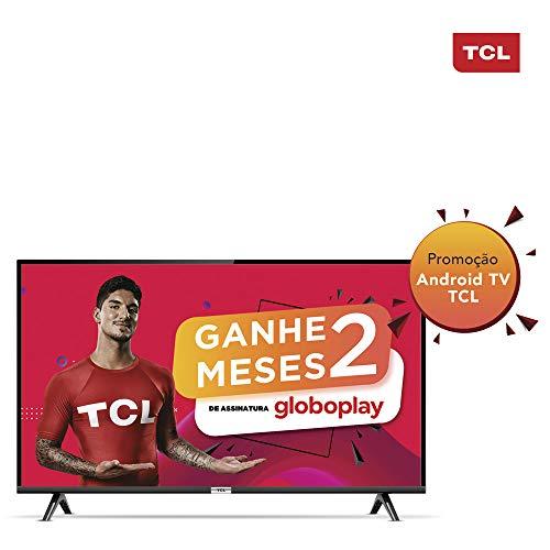 Smart TV LED 40' Android TCL 40s6500 Full HD com Conversor Digital Wi-Fi Bluetooth 1 USB 2 HDMI, Controle Remoto com Comando de Voz