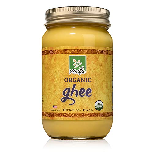 Organic Grass Fed Keto Ghee Clarified Butter - Keto Friendly Non-GMO that is Excellent in Coffee, as Cooking Oil, or for Diets Like Paleo and Whole 30 - Gluten Free (16oz)