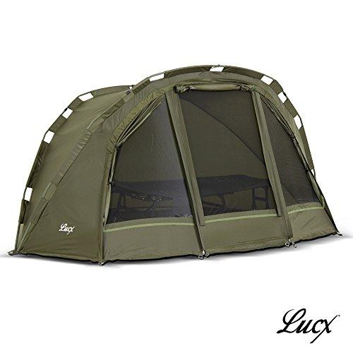 Lucx® Puma Angelzelt / 1 Man Bivvy / 1 Mann Karpfenzelt/Carp Dome/Fishing Tent/Zelt/Wassersäule 10.000 mm, Campingzelt
