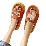 ZHIZI Chanclas Ducha Sandalias Sandalias Portátil Dibujos Animados Zapatillas de baño Playa de Verano Piscina Zapatos de Agua (Color : Orange, Size : US5/EU36/UK3)