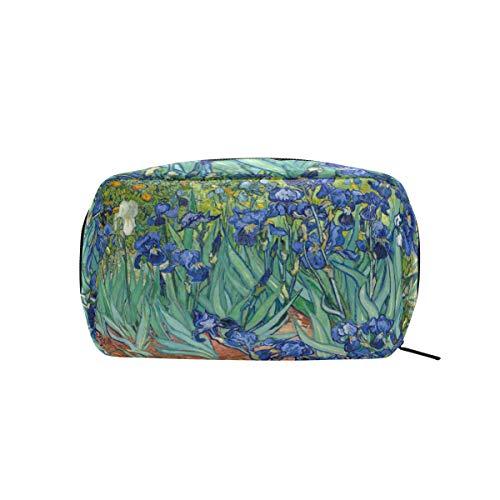 MontoJ Vincent Van Gogh Painting Irises Growing Gard Maquillage Pochette à fermeture éclair