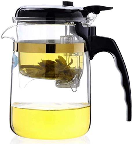 SKYEI Tetera de Tetera de Tetera pequeña Capacidad de Vidrio Resistente al té de té en la Taza de té del Filtro