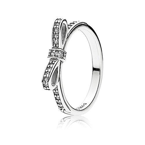 Pandora Damen-Ring 925 Sterling Silber Zirkonia weiß Gr.52 (L 1/2) 190906CZ-52