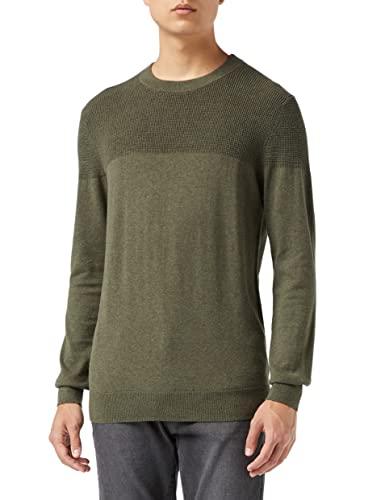 Marca Amazon - MERAKI Jersey de Algodón con Cuello Redondo Hombre, Verde (Khaki), XXL, Label: XXL