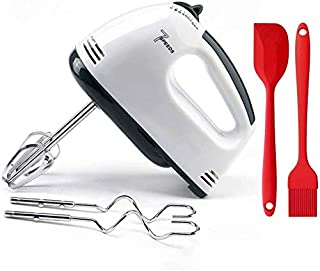Electric Hand Mixer Whisk Egg Beater 5-Speed Kitchen Food Baking 2X Beaters & 2X Dough Hooks for Kitchen Baking Cake Mini ...