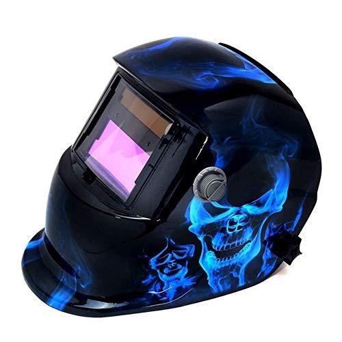 UOBEKETO Solar Auto Darkening Solar Welding Helmet Arc Tig Mig Mask Weld Welder Lens Grinding Mask with Adjustable Shade Range