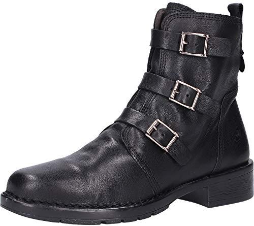 camel active Damen Bright 72 Biker Boots, Schwarz (Black 1), 39 EU