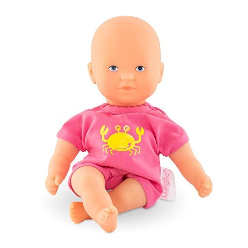 Corolle 9000120160 Mon Premier Poupon Mini Badepuppe in pink 20cm / Französische Puppe mit Charme und Vanilleduft