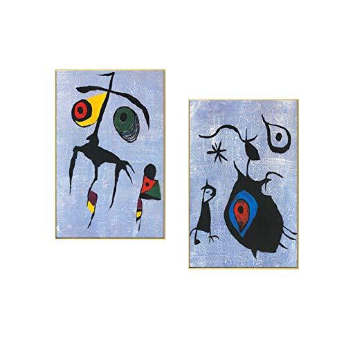 zhengchen Impresión en Lienzo Pintura de Lienzo Abstracto nórdico Póster e Impresiones Imagen de Arte de Pared Sala de Estar Moderna Decoración del hogar 50x70cm / 19.6'x27.5 x2 Sin Marco