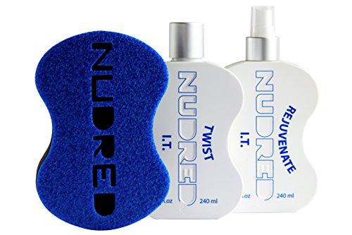 The 'Starter' Twist I.T. 2 Bottle SET with BLUE Hair Sponge for Men/Women | The Original NUDRED Natural Hair Care System