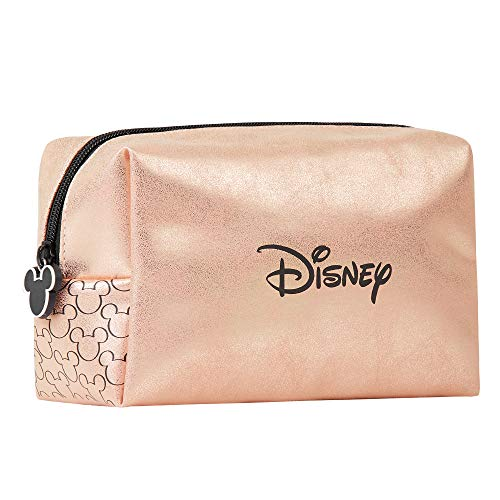 Disney Makeup Bag for Women and Teenagers, Cosmetic Bag with Mickey Mouse Print, Toiletry Bag for Travel, Disney Gifts for Women