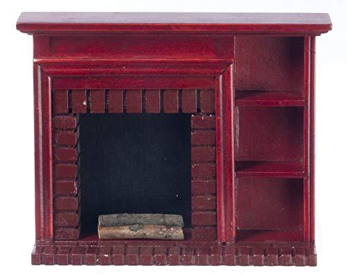 Melody Jane Puppenhaus Miniatur 1:12 Maßstab Mahagoni Kamin Regal