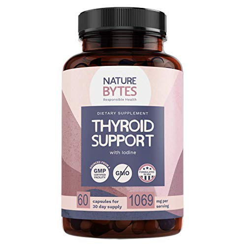 Thyroid Support for Women & Iodine Supplements for Thyroid, Weight Loss, Brain Fog, Metabolism Booster & Energy Pills, 60 Non GMO Thyroid Support Complex with VitaminB, Selenium, Ashwagandha and More