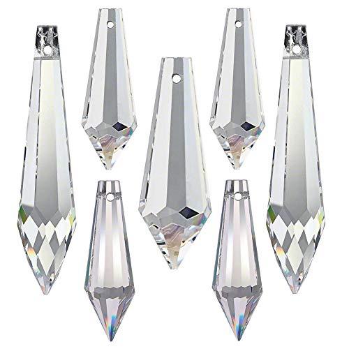 Kristallset 7 tlg. 'Spitzen' 38-63mm Crystal 30% PbO ~ Feng Shui Suncatcher Regenbogenkristall
