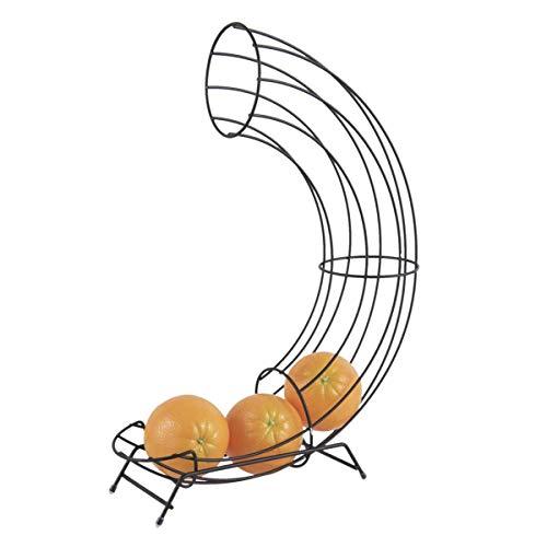 pt, PT3359BK Porte-fruits distributeur à oranges Wired Métal Noir mat H44 x 11 x 32 cm