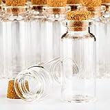 com-four® 60x Glasfläschchen ideales Gastgeschenk zur Hochzeit oder Geburtstag, Zubehör für Hochzeit, Tee, Gewürzen, Samen, Kräutern ca. 10 ml (060 Stück + Zubehör) - 4
