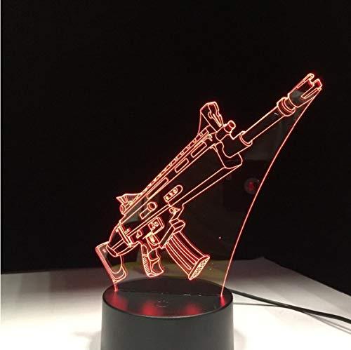 Pistolet Cicatrice Souvenir Cadeau 7 Couleurs Tactile Table Bureau Lumière 3D Led Lampe De Lave Acrylique Illusion Salle Atmosphère Éclairage Pour Fan De Jeu