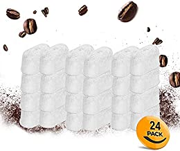 24-Pack Water Filter for Cuisinart Coffee Maker Compatible Replacement Charcoal Filter- Fits all Cuisinart Coffee Machines DGB-900BC CHW-12 SS-700 DGB-700BC DCC-3000 DCC-1100 DGB-625BC