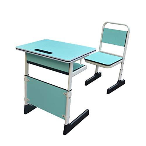 Mesa de estudio para niños Los escritorios de los estudiantes y Sillas Mesas elevadoras entrenamiento de recuperación de la escuela Aula de Clase for niños y sillas de 6 colores disponibles Para estud