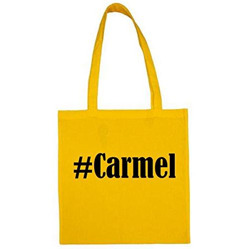 Bolsa #Carmel Tamaño 38x42 Color Amarillo Impresión Negro