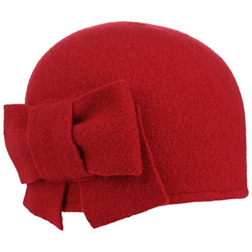 Seeberger Litika Wintermütze Walkmütze mit Schleife Walkhut Damenmütze (One Size - rot)