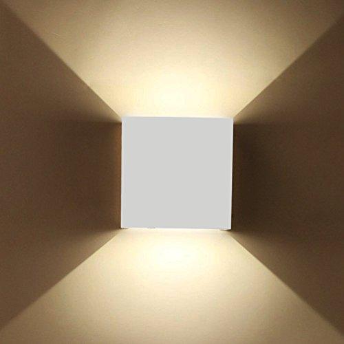 ETiME 7W LED Wandleuchte außen Wandaussenleuchte mit einstellbar Abstrahlwinkel Wandlampe IP65 LED energiesparend Warmweiß (Weiß 7W)