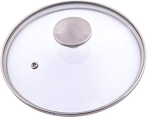 meimie00 Coperchio en vetro per coperchio da 10 pollici per Padella cuadrada en Padella con Padella per flusso d'aria en Acciaio inossidabile.