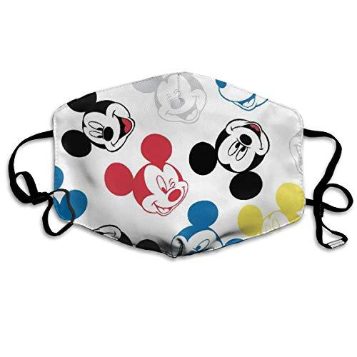 Männer Frauen Verstellbarer Mundschutz Mundschutz Anti-Staub Waschbar Wiederverwendbarer Mundschutz für Kinder Teenager Erwachsene Anti Umweltverschmutzung-Bunte Mickey Mouse