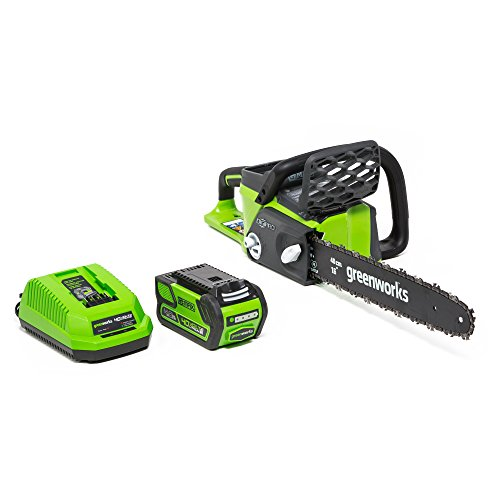 Greenworks G-MAX 40V 16-Inch Cordless Chainsaw, 4AH Battery and a Charger Included 20312