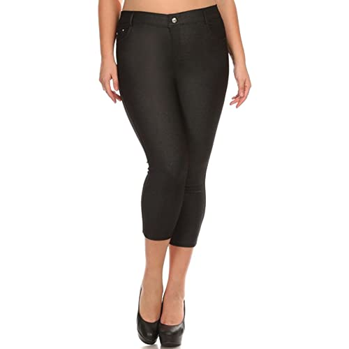 9526daceade Simplicity Women s Stretchy 5 Pockets Plus Size Jeggings