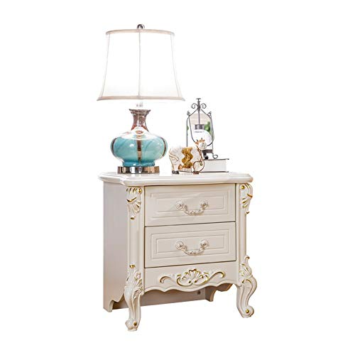 Best Price Nightstand Look Accent Furniture European-Style Wooden Carved Bedside Table French Pastor...