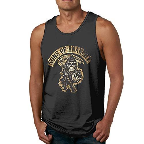 shenguang Camiseta sin Mangas Deportiva de Secado rápido Sons of Anarchy para Culturismo, Gimnasio, Atletismo, Correr, Entrenamiento físico, Camiseta de Entrenamiento