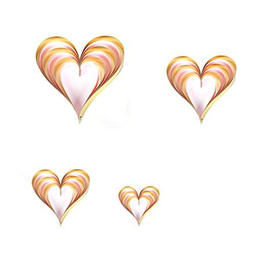 Demarkt driedimensionale liefdesvorm hangende ornamenten vierdelig, Valentijnsdag huwelijk voorstel deco rekwisieten raamdecoratie levert
