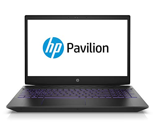 HP Pavilion Gaming 15-cx0008ng 39,6 cm (15,6 Zoll Full HD IPS) Laptop (Intel Core i7-8750H, 16GB DDR4 RAM, 1TB HDD, 256GB SSD, Nvidia GeForce GTX 1050Ti 4GB, Windows 10 Home) schwarz / violet