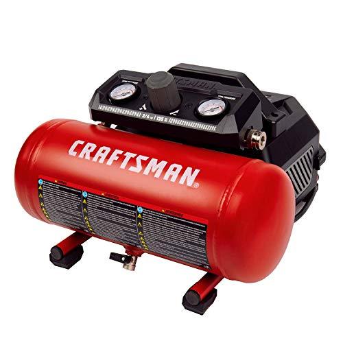 Craftsman 1.5 Gallon 3/4 HP Portable Air Compressor, Max 135 PSI, 1.5 CFM@90psi, Oil Free Air Tank, Electric Air Tool, CMXECXA0200141A (Renewed)