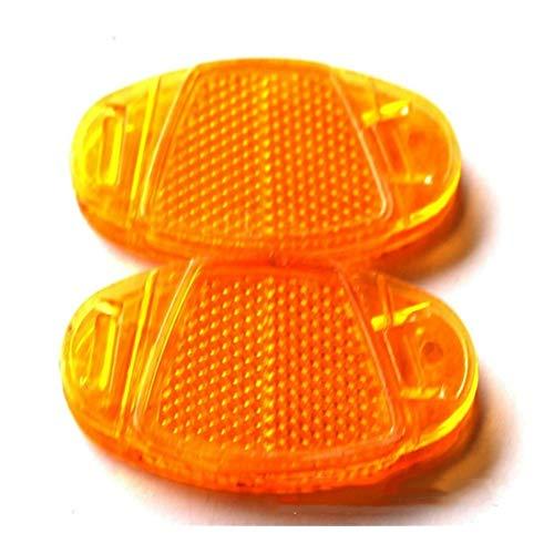 JYBHSH Bicicleta habló Reflector de Seguridad Advertencia Rueda luz de Borde Reflectante Monte Noche Reflectores Luces Que Destellan del Ciclo Luz (Color : 2Pcs Orange)