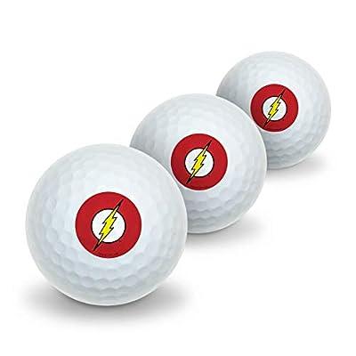 GRAPHICS & MORE The Flash Lightning Bolt Logo Novelty Golf Balls 3 Pack