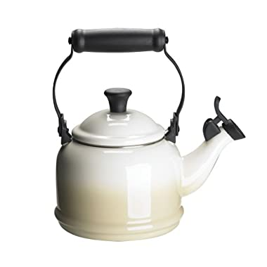 Le Creuset Enamel-on-Steel Demi 1-1/4-Quart Teakettle, Dune