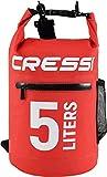Cressi Dry Bag, Sacca/Zaino Impermeabile per attività Sportive Unisex Adulto, Rosso con Z...
