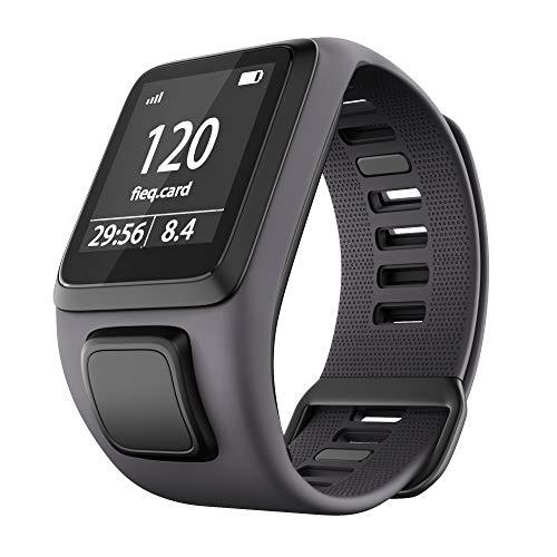Shieranlee Sport Bracelet pour Tomtom Watch, Silicone Respirant Bracelet avec goupille à libération Rapide Compatible pour Tomtom Runner 2/ Runner 3/ Spark/Golfer 2 Sports GPS Running Smartwatch