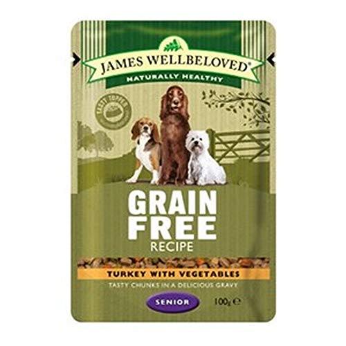 James Wellbeloved Turkey and Vegetables Wet Dog Food Pouches (12 Packs) (12 x 100g) (Turkey and Vegetables)