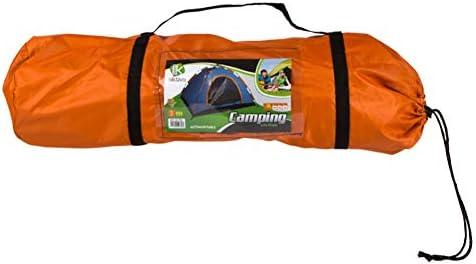 Aktive - Tienda Camping iglú para 3 personas, auto montable, medidas 200 x 150, color naranja (85077)